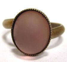 SoHo® Ring vintage bronze light amethyst matt handgemachtes Glas 60er Jahre lila
