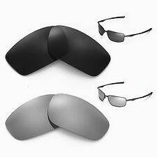 New Walleva Polarized Black + Titanium Lenses For Oakley Splinter Sunglasses