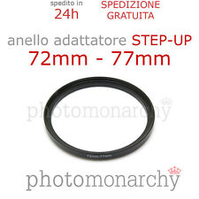 Anello STEP-UP adattatore da 72mm a 77mm filtro - STEP UP adapter ring 72 77 mm