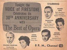 1958 Tv Opera Ad/Wilfrid Pelletier/Anna Moffo/Rosalind Elias/Cesare Siepi