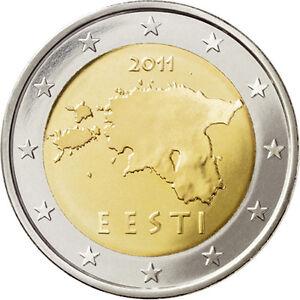 ESTONIA - 2 € Euro circulation coin 2011 uncirculated
