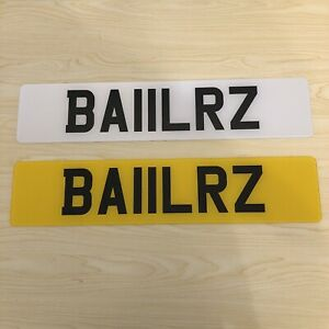 Cherished Number Private Number Plate BA11 LRZ Baller Ballers Cheeky Funny Boss
