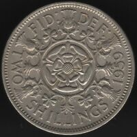 1959 Elizabeth II Two Shillings | British Coins | Pennies2Pounds