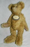 """Vintage 13"""" tall jointed Mohair Teddy Bear, unknown maker"""