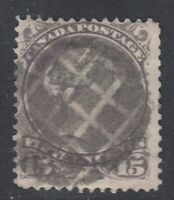 "Canada Scott #29  15 cent grey violet  ""Large Queen"""