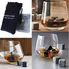 WHISKEY STONES - 9 x bevande PIETRE-COOLER cubi per SCOTCH / BIBITE-bar regalo