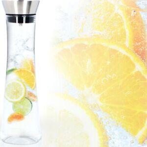 Löwenthal® Wasserkaraffe 1L Deckel Sieb Glas Karaffe Krug Saft Flasche Dekanter