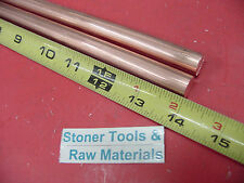 2 Pieces 12 C110 Copper Round Rod 14 Long H04 Solid Cu New Lathe Bar Stock