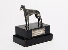 20th century Chromed sculpture of a Greyhound - Whippet