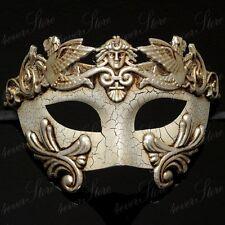 Men Egyptian Greek Venetian Masquerade Mask - Roman Warrior Venetian - Silver