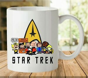 Charlie Brown and Friends Star Trek The Peanuts Coffee Mug