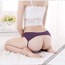 Sexy Höschen String Tanga Lila Slip Dessous Panty Hotpants Po frei S M L FERANI