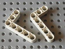LEGO Technic 2 white Beam 3 x 5 Bent 90 ref 32526 / Set 8386 41999 42025 42000..