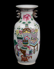 China 19. Jh. Qing - A Chinese Famille Rose Porcelain Vase - Vaso Cinese Chinois