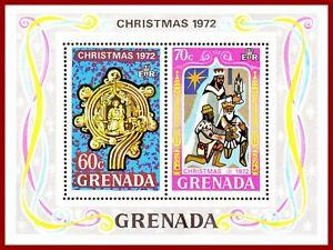 Grenada 1972 Christmas, miniature sheet ** MNH, Mi Bl 27, SG MS 547, Sc481