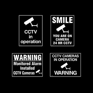 CCTV Window Stickers Sign, Sticker - All Materials - Choose Your Design