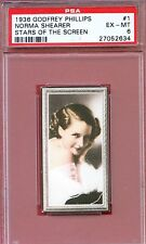 1936 Stars of the Screen Card #1 NORMA SHEARER Romeo and Juliet MONTREAL PSA 6