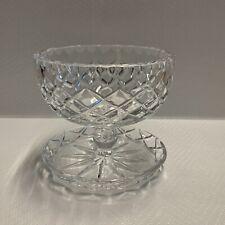 CRYSTAL Glass PEDESTAL DESERT BOWL - DIAMOND CUT - 9cm High