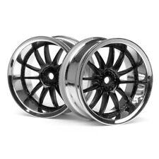 HPI 3287 Work Xsa Wheels 26mm Chrome/Black 6mm Offset (2)