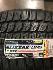 1 New 285 35 20 Bridgestone Blizzak LM-25 RFT Run Flat Snow Tire