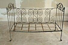 Ancien lit en fer forgé - 134 x 65 x 96 cm - idéal transformation en banquette