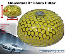 "3"" MUSHROOM STYLE HIGH FLOW INLET/INTAKE AIR FILTER YELLOW MICROFOAM FOR HONDA"