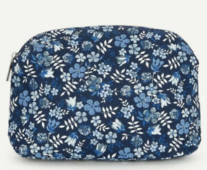 LIBERTY LONDON   Blue Edenham Print Travel Wash Bag Beauty Makeup Bag   NEW £45
