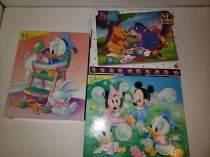 A4 Disney Babies 24 Piece Puzzles Donald Mickey Minnie Winnie The Pooh Lot