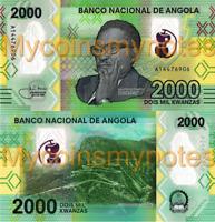 ANGOLA 2000 Kwanzas, Prefix A, 2020, Leba Mountain in Namibe, New Polymer, UNC