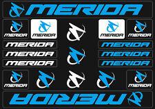 Merida Mountain Bicycle Frame Decals Stickers Graphic Adhesive Set Vinyl Blue