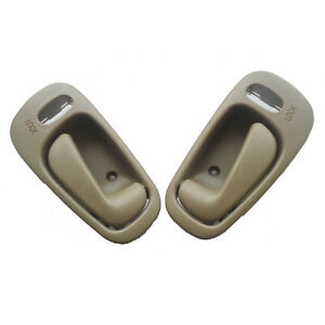 Fit 98-02 Toyota Corolla Chevy prizm Inside LOCK Beige Left Right Door Handle
