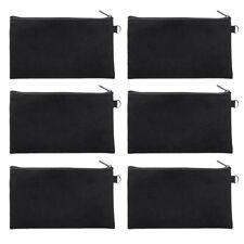 "6PCS Blank Canvas Pouch Zipper Makeup Bag Black White DIY 7 3/4"" x 4 1/2"" Aspire"