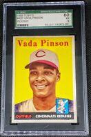 Vada Pinson 1958 Topps RC Rookie Graded SGC 60 EX 5 Cincinnati Reds