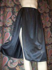 Vintage Vassarette Black Nylon Plus Size A-line Slit Half Slip 2Xl
