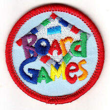 """""""BOARD GAMES""""  Iron On Patch Competition Fun Game"""