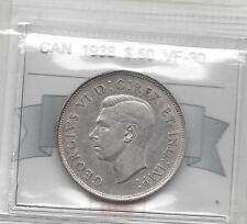 **1938**, Coin Mart Graded Canadian,  50 Cent, **VF-30**