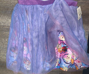 Disney frozen sz L 10/12 layered tutu skirt tulle princess nwt