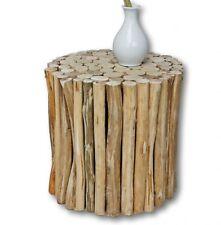 taburete Marrón Mesa Auxiliar de madera urbana maciza 30x30x30