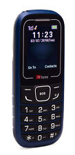 TTfone TT110 Cheapest Big Button Mobile Phone with SOS Blue - O2 Pay As You Go