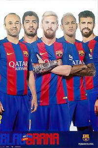 Fc Barcelona - Sports Poster / Print (Star Players - Messi & Neymar & Friends)