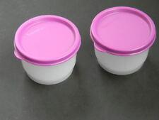 Tupperware Snack Cups Set of 2 Purple Liquid Tight Seals Snacks Kids Travel New