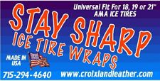 Stay Sharp Motorcycle Ice Tire Wraps--Pair (These are the good ones)