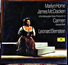 """AUDIOPHILE TAS LIST DGG GERM BIZET """"Carmen"""" BERNSTEIN #3LP BOXSET + Libretto"""