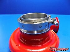 "5"" Weld On to 4"" V-band Turbo Inlet Aluminum Flange with Clamp and Mating Steel"