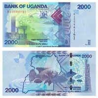 Uganda 2000 Shillings 2015 P-50c Banknotes UNC