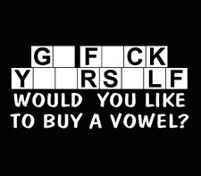 Buy A Vowel Decal Funny Car Truck Window Sticker White