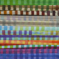 12 FAT QUARTERS HANDPAINTED GINGHAM ROBERT KAUFMAN ARTISAN BATIKS FAT QUARTER