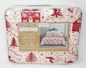 Ridgewood Christmas Winter Duvet Cover Set, 3 Pieces Full/Queen Reversible *NEW*