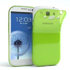 Ultra Slim Cover für Galaxy S3 / Neo Case Silikon Hülle Transparent Grün