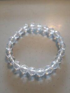 Clear Plastic Bead Elastic Bracelet (J21- 74)